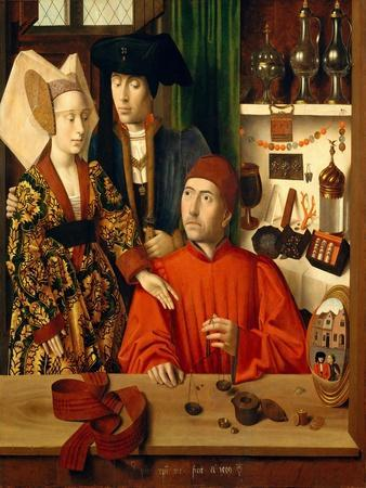 A Goldsmith in his Shop, 1449