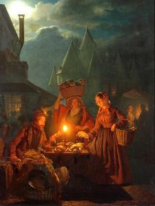 The Jews Market, 1852 by Petrus van Schendel