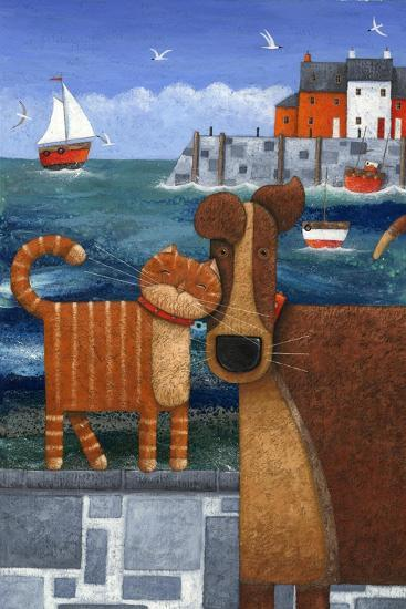 Pets by the Sea-Peter Adderley-Art Print