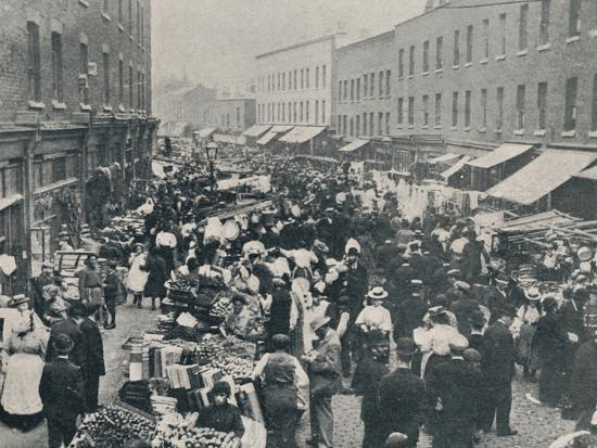 'Petticoat Lane - The Sunday Morning Market in Full Swing', 1901-Unknown-Photographic Print