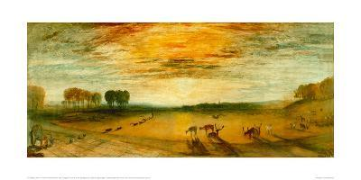Petworth Park with Tillington Church in the Background-J^ M^ W^ Turner-Giclee Print