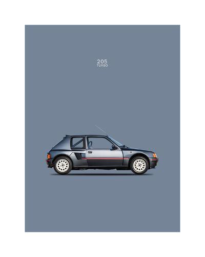 Peugeot 205 Turbo 1984-Mark Rogan-Giclee Print