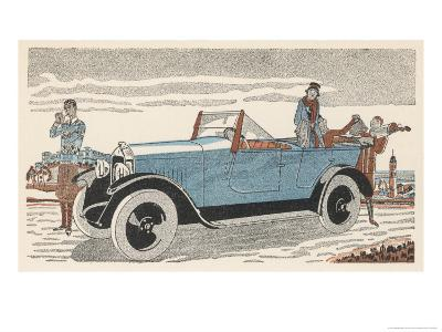 Peugeot at the Golf Club-Jean Grangier-Giclee Print