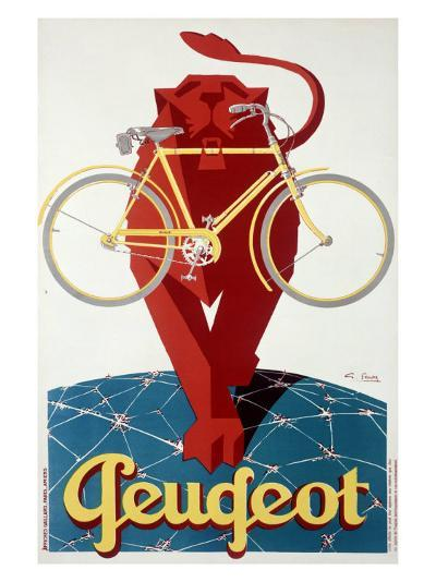 Peugeot Lion Bicycle--Giclee Print