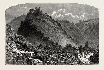 Peveril Castle, the Dales of Derbyshire, Country, UK, 19th Century--Giclee Print