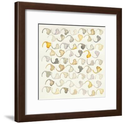 Pewter and Brass Pattern-Shirley Novak-Framed Art Print