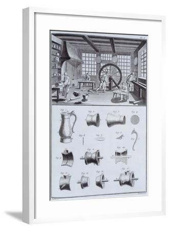 Pewter-Making, C1750S--Framed Giclee Print