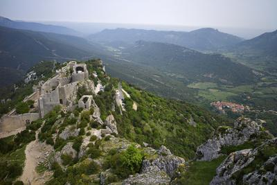 Peyrepertuse Cathar Castle, French Pyrenees, France-Rob Cousins-Photographic Print