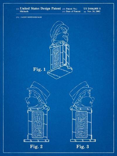 Pez Dispenser Patent-Cole Borders-Art Print