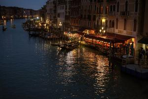 Grand Canale from Rialto Bridge at Blue Hour, Venice, Italy by PH.OK