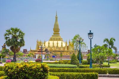 Pha That Luang Golden Stupa, Vientiane, Laos, Indochina, Southeast Asia, Asia-Jason Langley-Photographic Print