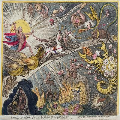 Phaeton Alarm'D, Published by Hannah Humphrey in 1808-James Gillray-Giclee Print