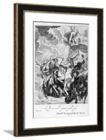 Phaeton Struck Down by Jupiter's Thunderbolt, 1655-Michel de Marolles-Framed Giclee Print