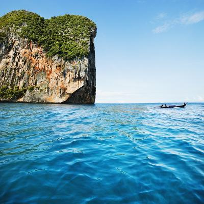 Phang-Nga Bay Island with Mountains-JoSon-Photographic Print