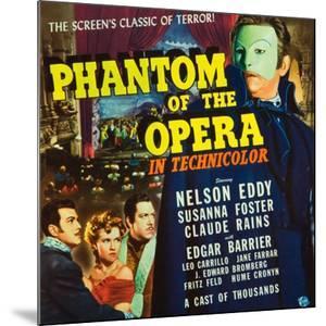 Phantom of the Opera, Nelson Eddy, Susanna Foster, Claude Rains, 1943