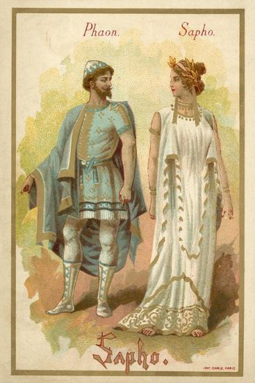 Phaon and Sappho, from Giovanni Pacini's Opera Saffo--Giclee Print