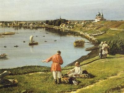 Russia, View of Ladoga Lake, 1833, Detail