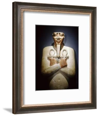 Pharaoh Mentuhotep III as Osiris, Ancient Egyptian, 11th dynasty, 2010-1998 BC-Werner Forman-Framed Giclee Print
