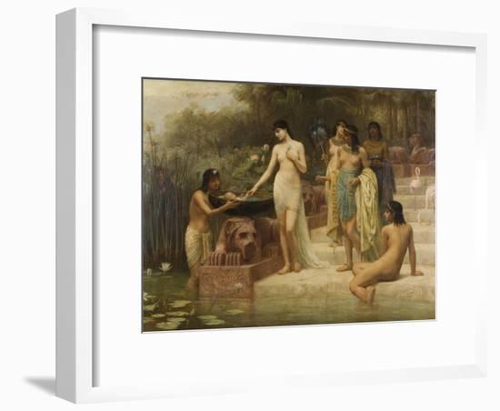 Pharaoh's Daughter - the Finding of Moses, 1886-Edwin Longsden Long-Framed Giclee Print
