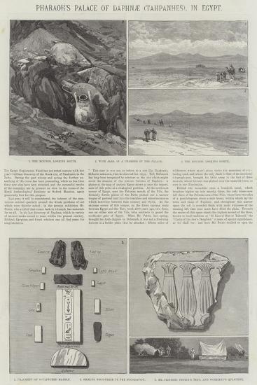 Pharaoh's Palace of Daphnae (Tahpanhes), in Egypt--Giclee Print
