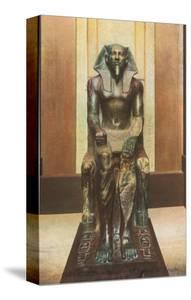 Pharaoh Statue in Cairo Museum, Egypt