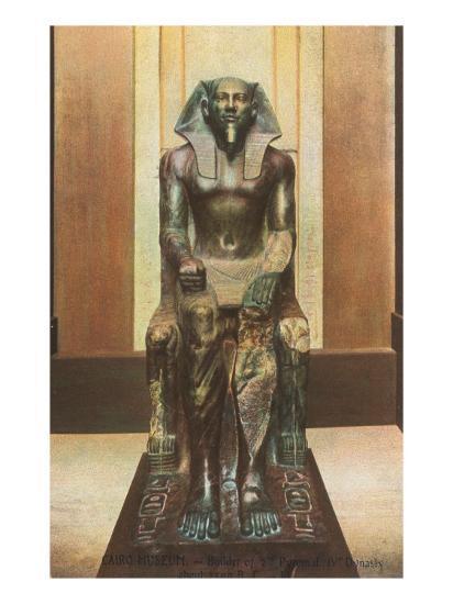 Pharaoh Statue in Cairo Museum, Egypt--Art Print