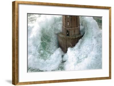Phares dans la Tempete, La Jument-Jean Guichard-Framed Art Print
