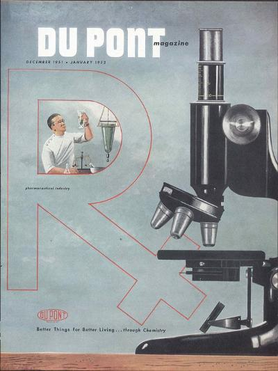 Pharmaceutical Industry, Front Cover of the 'Dupont Magazine', December 1951-January 1952--Giclee Print