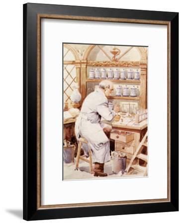 Pharmacist-Joaquin Moragues-Framed Art Print