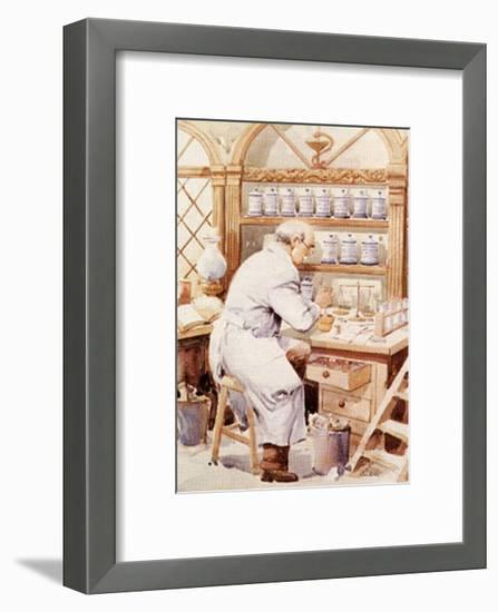Pharmacist-Joaquin Moragues-Framed Art Print