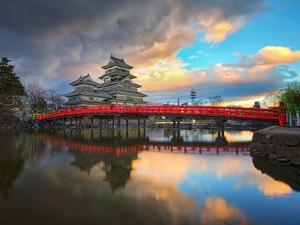Matsumoto Castle in Matsumoto Nagano, Japan by Phattana