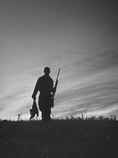 Pheasant Hunter Carrying Bird That He Killed-Wallace Kirkland-Photographic Print