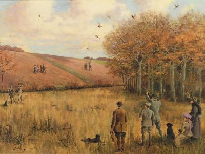 Pheasant Shooting-Christopher William Strange-Giclee Print