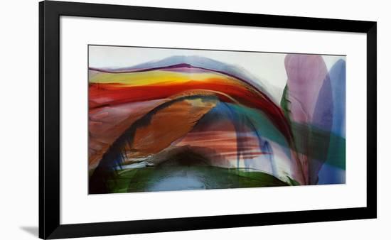 Phenomena Waves Without Wind, 1977-Paul Jenkins-Framed Art Print
