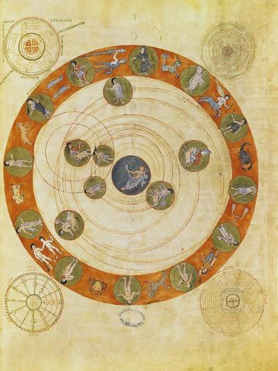 Phenomenes D'Aratus, Cosmological Diagram (Map of the Heavens)--Giclee Print