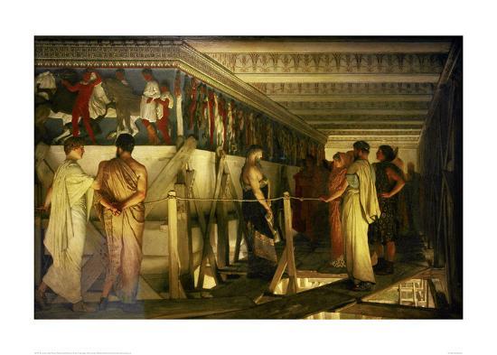 Phidias and the Parthenon Frieze-Sir Lawrence Alma-Tadema-Giclee Print