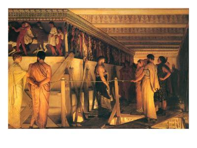 Phidias Showing the Frieze of the Parthenon to His Friends-Sir Lawrence Alma-Tadema-Art Print