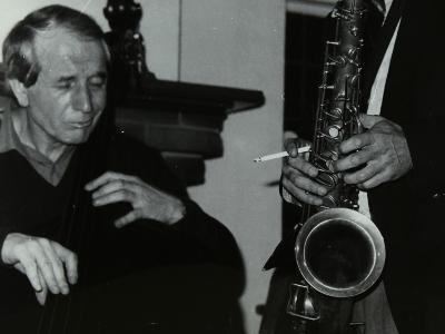 Phil Bates and the Tenor Saxophone of Spike Robinson at the Bell, Codicote, Hertfordshire, 1986-Denis Williams-Photographic Print