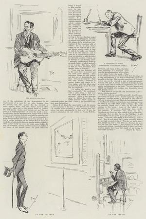 An English Humoristic Artist, Mr Phil May at Home