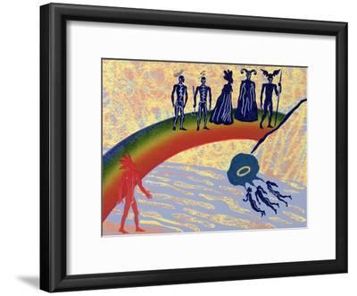 Entry into Valhalla, Gods Cross the Rainbow Bridge to Fortress: Illustration for 'Das Rheingold'