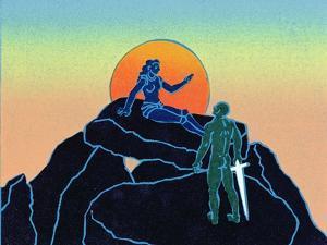 Siegfried Wakens Brunhilde, Illustration from 'Siegfried' by Phil Redford