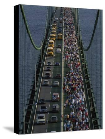 Annual Labor Day Bridge Walk Across the Mackinac Bridge, St. Ignace, Michigan