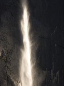 Bridalveil Fall Thunders to the Valley Floor in Yosemite Valley by Phil Schermeister