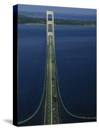 Lakes Michigan and Huron Meet, Mackinac Bridge, St. Ignace, Michigan