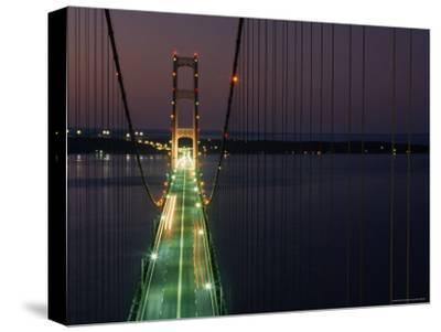 Mackinac Bridge, One of the World's Longest Suspension Bridges, St. Ignace, Michigan