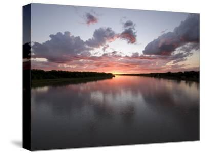 Missouri River at Sunset Reflects the Sky in North Dakota