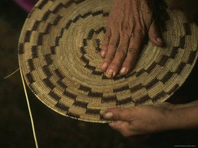 Native American Basket Weaver in Yosemite National Park, California