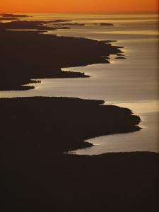 Neighboring Islands Lucille, Foreground, and Susie Fringe Lake Superior by Phil Schermeister