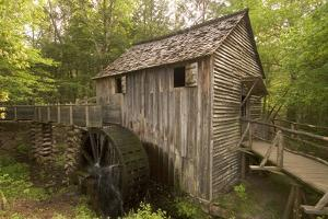 The John P. Cable Grist Mill on its Original Site, Cades Cove, Great Smoky Mountains National Park by Phil Schermeister
