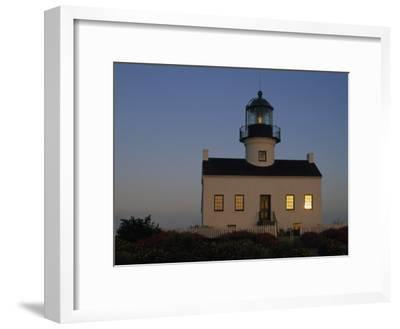 The Morning Sunrise on Old Point Loma Lighthouse, San Diego, California
